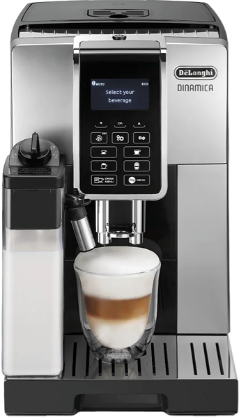 DeLonghi Dinamica Fully Automatic Coffee Machine – Silver & Black ECAM35055SB