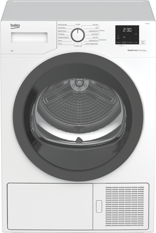 Beko 8kg Heat Pump Dryer BDP810W
