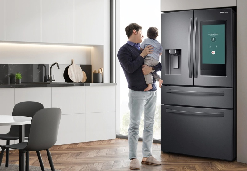 Samsung 662L French Door Fridge - Black Stainless SRF662BFH4