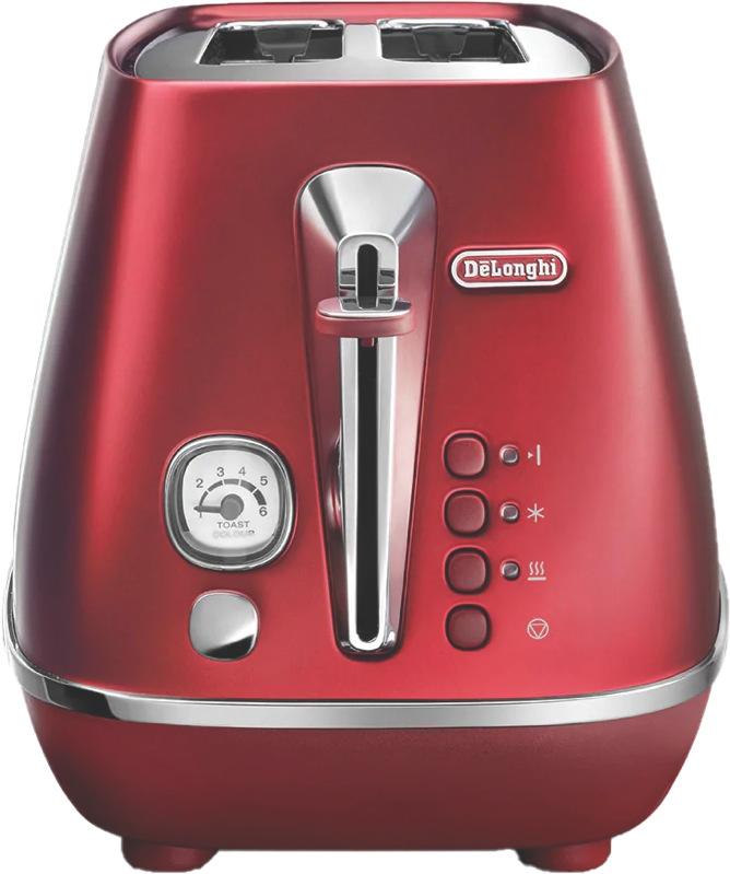 DeLonghi Distinta Flair 2 Slice Toaster - Red CTI2003R
