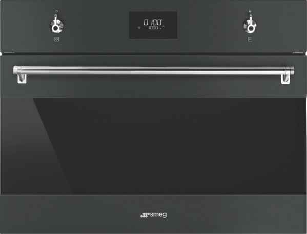 Smeg 60cm Built-in Compact Speed Oven - Black SFA4301MCN
