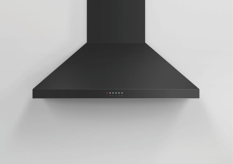 Fisher & Paykel 90cm Canopy Rangehood - Black HC90PCB1