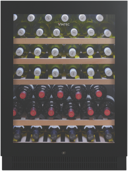 Vintec 50 Bottle Wine Cellar - Black Glass VWS050SBAX