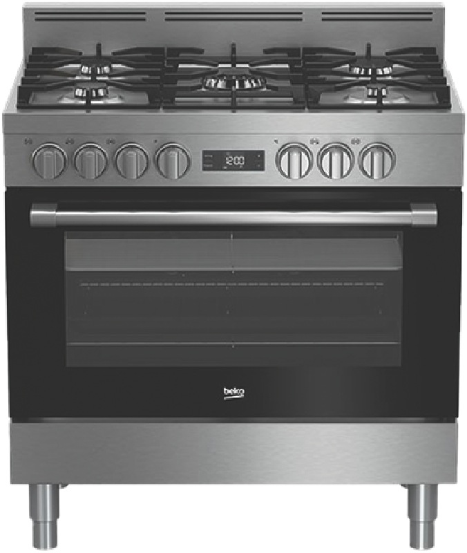 Beko 90cm Freestanding Dual Fuel Cooker - Stainless Steel BFC916GMX1