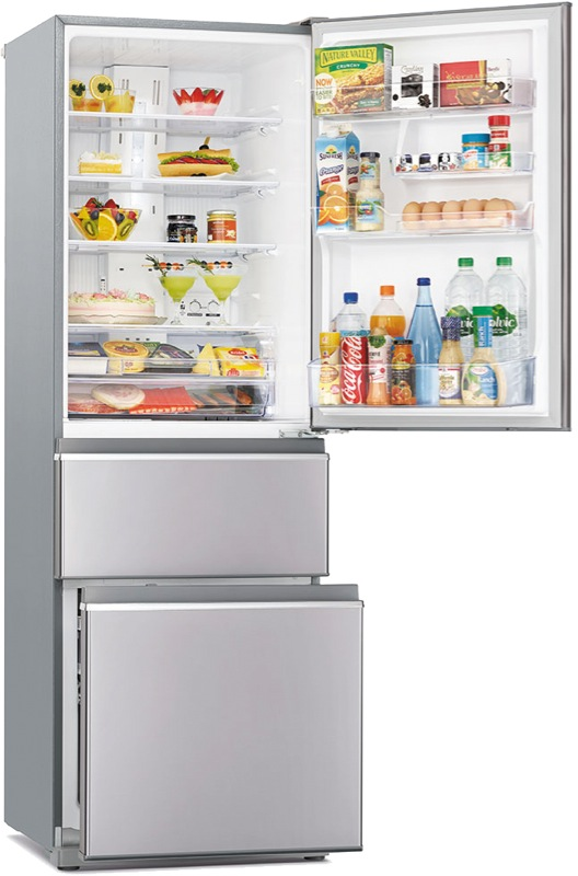 Mitsubishi Electric 402L 3-Door Bottom Mount Fridge MRCX402EJSTA