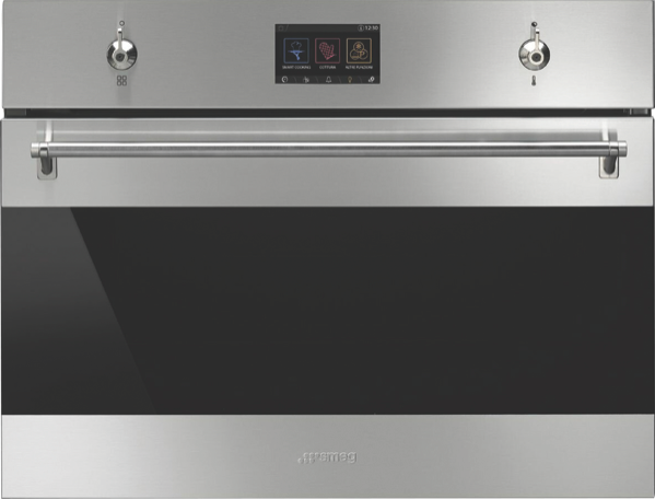 Smeg 45cm Built-In Combi Steam Oven - Stainless Steel SFA4303VCPX