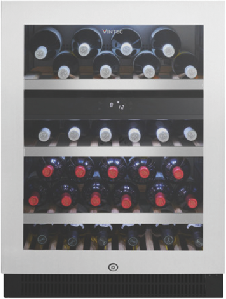 Vintec 50 Bottle Multi Zone Wine Cellar – Stainless Steel VWD050SSAX