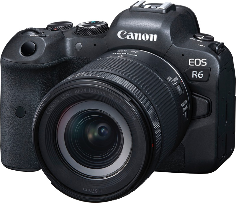 Canon EOS R6 With RF 24-105mm f/4-7.1 IS STM Camera Lens Kit R624105STM