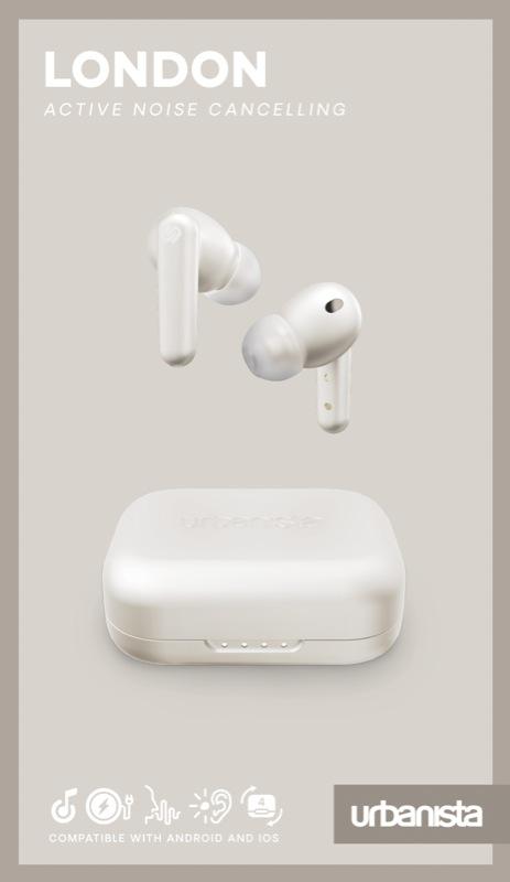 Urbanista London True Wireless Noise Cancelling Earbuds - White Pearl LONDONWP