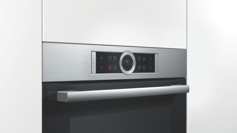 Bosch 60cm Built-In Pyrolytic Oven - Black HRG675BS1B