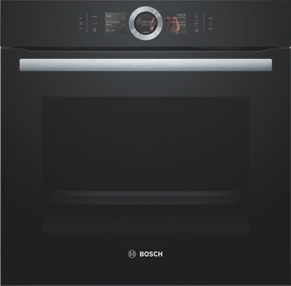 Bosch 60cm Built-In Combi Steam Oven - Black HSG656XB6A