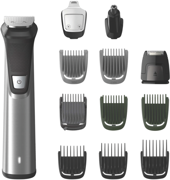Philips Series 7000 12-in-1 Multigroom Trimmer – Stainless Steel MG773515