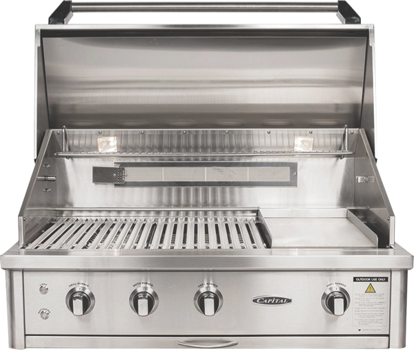Capital 102cm 2-Burner Built-In BBQ - Stainless Steel ACG40RBI1L