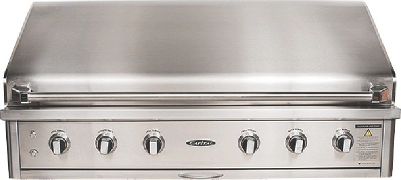 Capital 133cm 3-Burner Built-In BBQ - Stainless Steel ACG52RBI1L