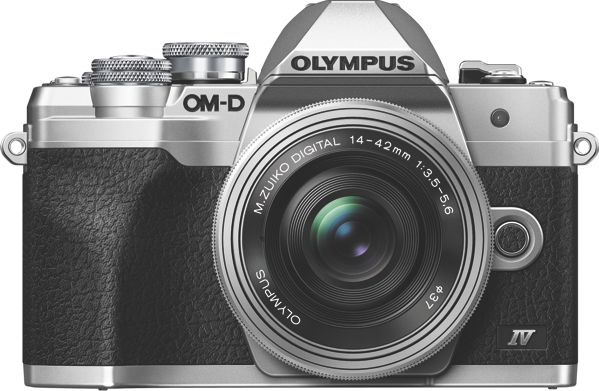 Olympus OM-D E-M10 Mark IV Mirrorless Camera + 14-42mm Lens Kit - Silver V207132SA000