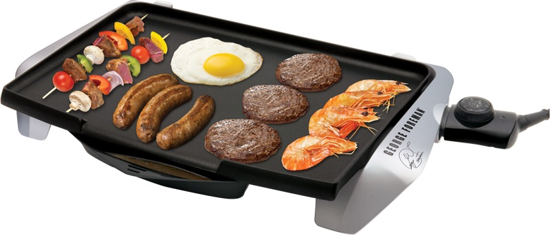 George Foreman Electric Griddle - Silver GREG10