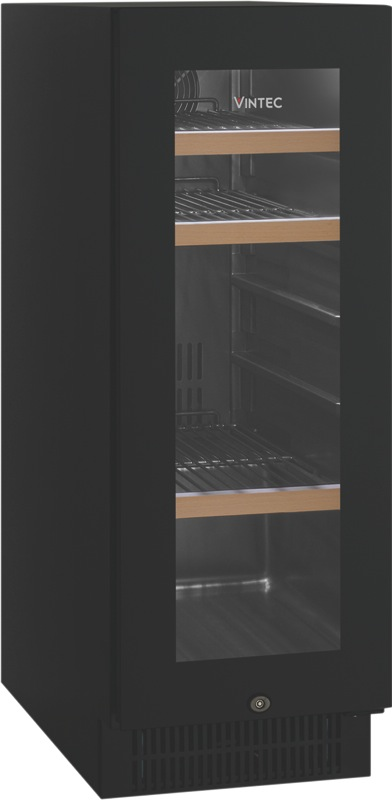 Vintec 48 Beer Bottle Beverage Centre - Black Glass VBS020SBBX