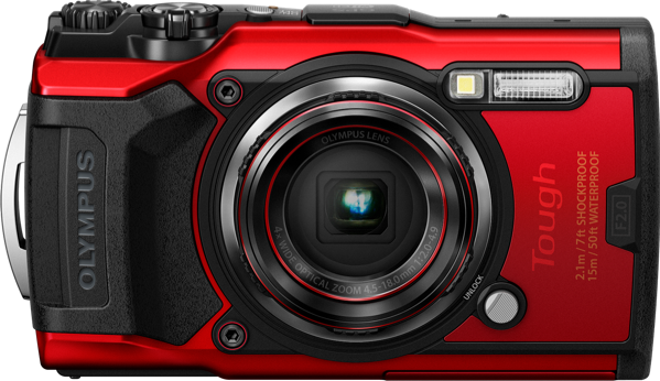 Olympus TG-6 Compact Digital Camera - Red V104210RA000