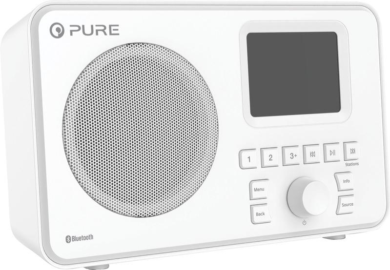 Pure Elan One Portable Digital Radio with Bluetooth - White 248311