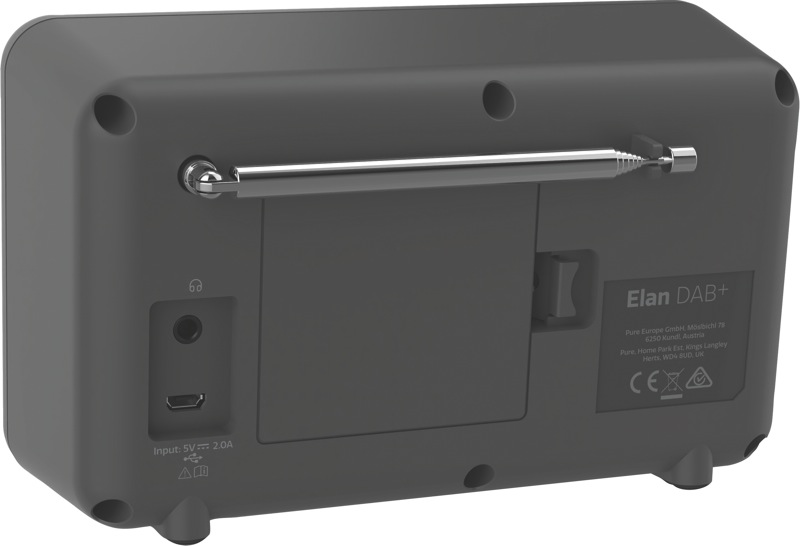 Pure Elan Connect Portable Digital Radio - Charcoal 248482