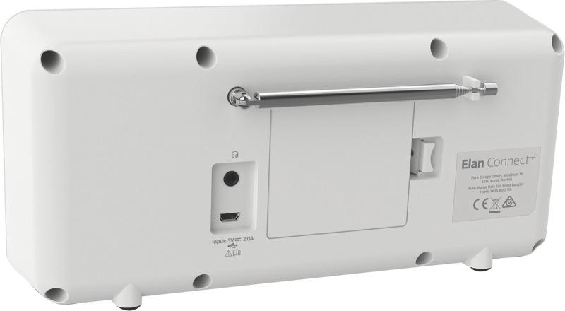 Pure Elan Connect Portable Digital Radio with Bluetooth/Internet - Stone Grey 248481