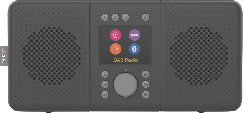 Pure Elan Connect+ Portable Digital Radio with Bluetooth/Internet - Charcoal 248484