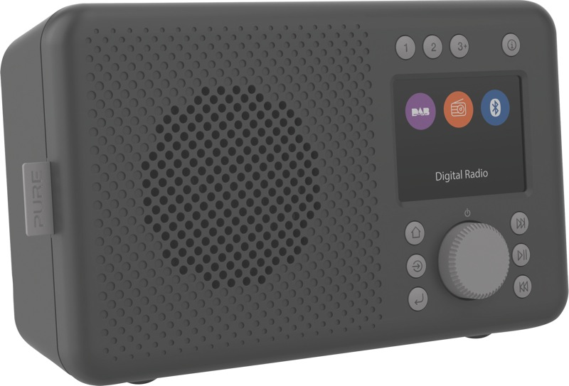 Pure Elan Portable Digital Radio with Bluetooth - Charcoal 248479