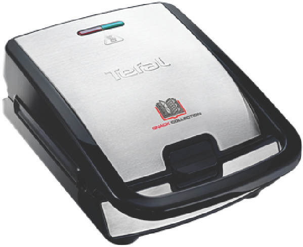Tefal Snack Collection 2-Slice Sandwich Press - Stainless/Black SW852