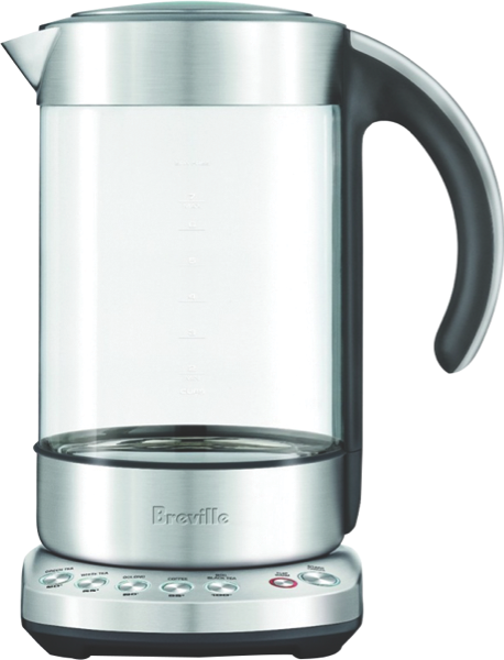 Breville The Smart 1.7L Glass Kettle - Clear BKE840CLR