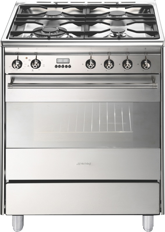 Smeg 60cm Freestanding Dual Fuel Cooker - Stainless Steel FS61XNG8