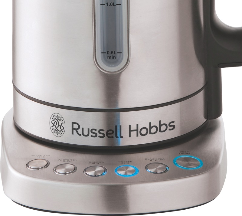 Russell Hobbs Addison 1.7L Digital Kettle - Brushed Stainless RHK510