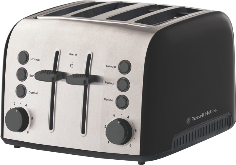 Russell Hobbs Brooklyn 4 Slice Toaster - Black RHT94BLK
