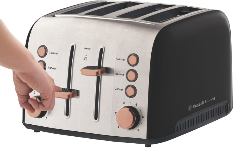 Russell Hobbs Brooklyn 4 Slice Toaster - Copper RHT94COP