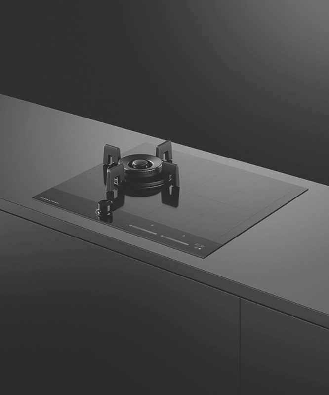Fisher & Paykel 60cm Dual Fuel Cooktop - Black CGI603DLPTB4