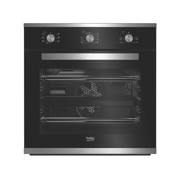 Beko 60cm Built-in Multifunction Oven - Black BBO60S0MB