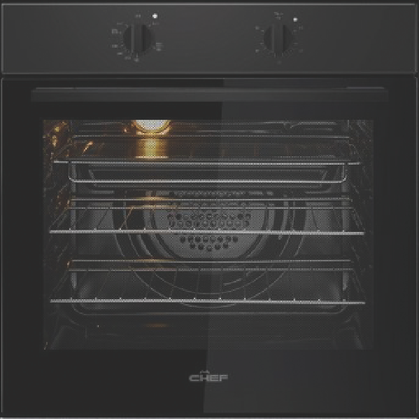 Chef 60cm Built-in Oven – Black CVE612DB