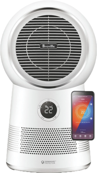 Breville the Air Rounder Connect Purifier - White LPH408WHT2JAN1