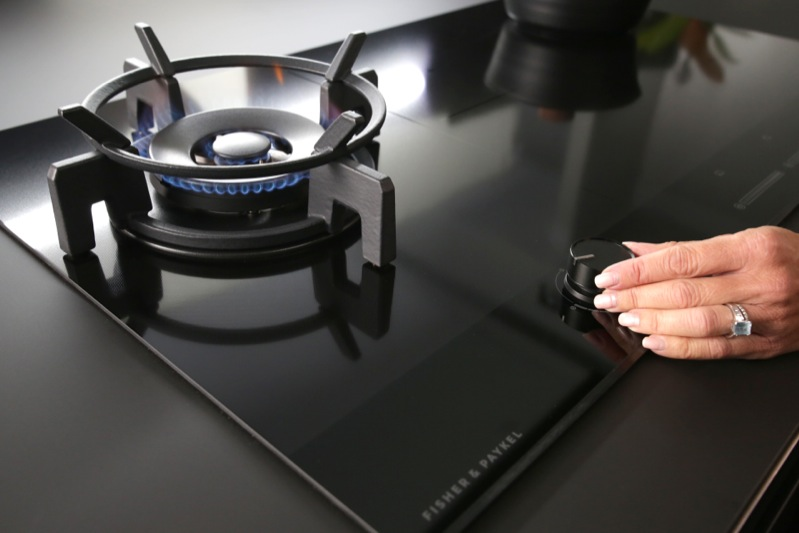 Fisher & Paykel 90cm Dual Fuel Cooktop - Black CGI905DNGTB4