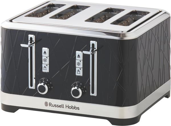 Russell Hobbs Structure 4-Slice Toaster - Black RHT334BLK