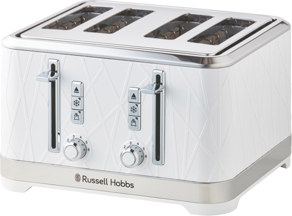 Russell Hobbs Structure 4-Slice Toaster - White RHT334WHI