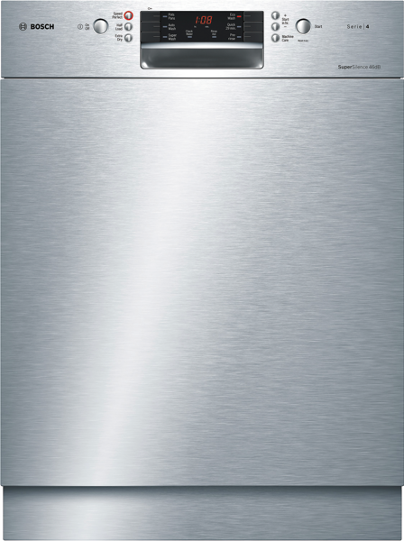 Bosch 60cm Built-Under Dishwasher - Stainless Steel SMU46GS01A