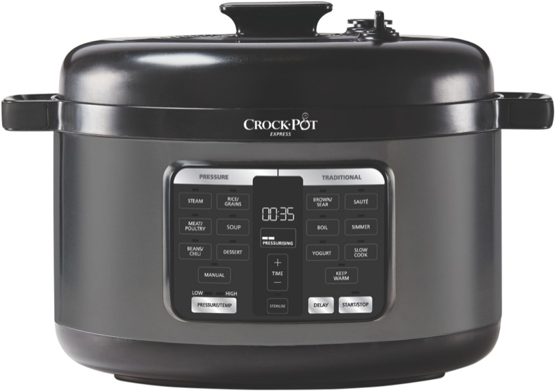 Crock Pot Express Easy Release Oval Multi-Cooker - Dark Stainless Steel CPE500