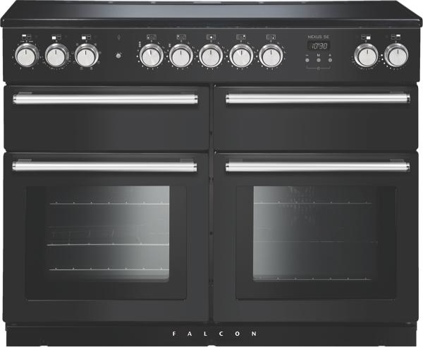Falcon 110cm Freestanding Electric Cooker - Charcoal Black & Chrome NEXSE110EICBCH