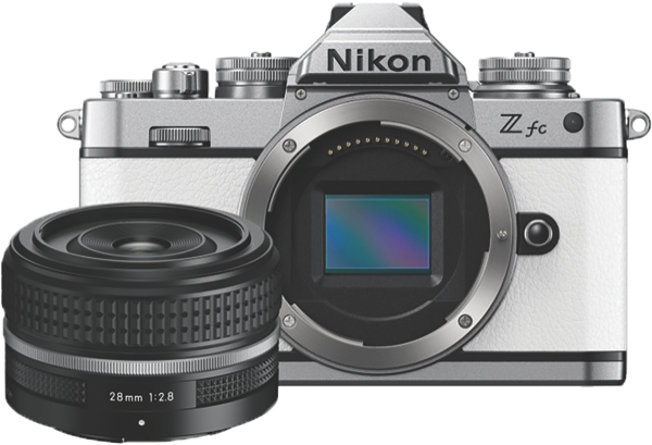 Nikon Z fc Mirrorless Camera - White + Z 28mm Lens Kit ZFC091YA