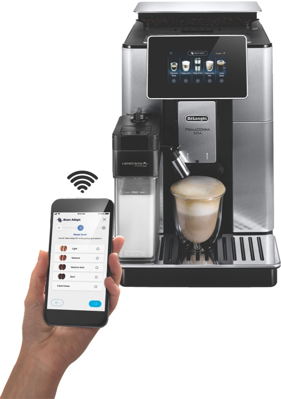 DeLonghi Primadonna Soul Fully Automatic Coffee Machine - Stainless Steel ECAM61075MB