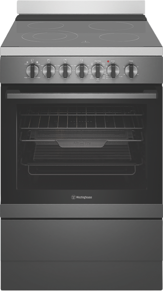 Westinghouse 60cm Freestanding Electric Cooker - Dark Stainless Steel WFE646DSC