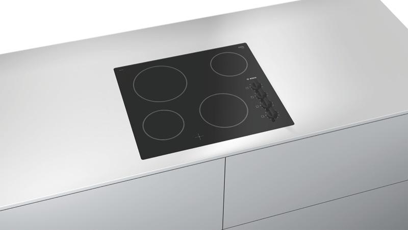 Bosch 90cm Ceramic Cooktop - Black PKE611CA1A