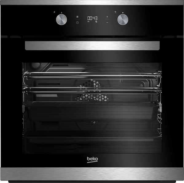 Beko 60cm Built-in Multifunction Oven - Black BBO60S1MB