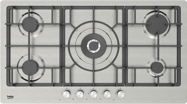 Beko 90cm Gas Cooktop - Stainless Steel BCT90GX