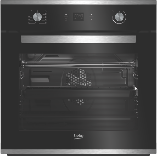 Beko 60cm Built-In Pyrolytic Oven – Black BBO60S1PB